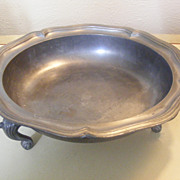 Heavy Footed Pewter Bowl
