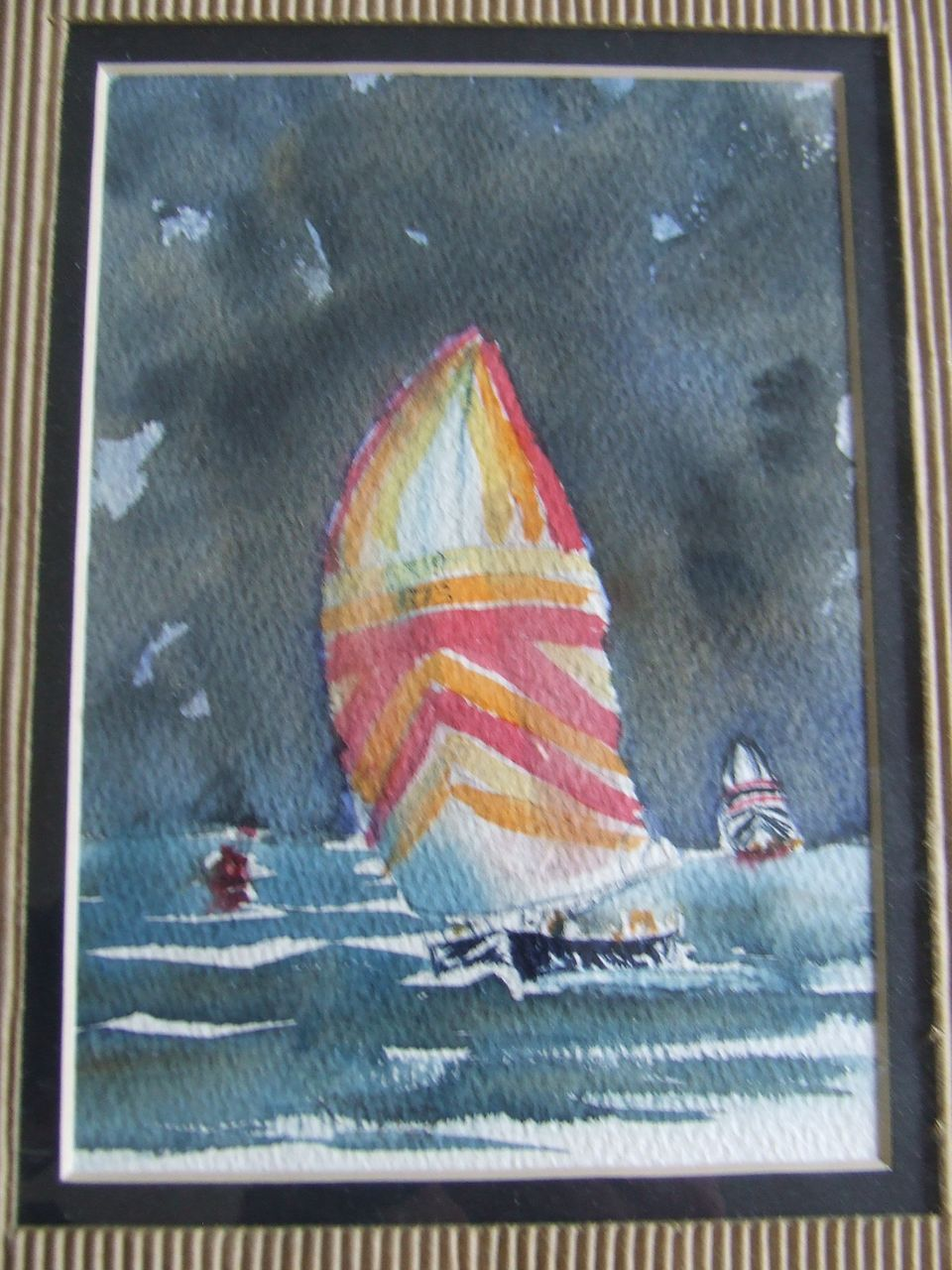 Original Water Color - Sailboat