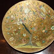 Antique 19th Century Hand Painted Paper Mache Bowl