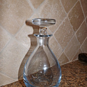 Crystal Art Glass Strombergshyttan Ice Blue Decanter