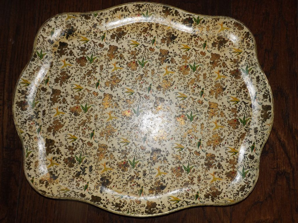 Large Decorated Serving / Drinks platter