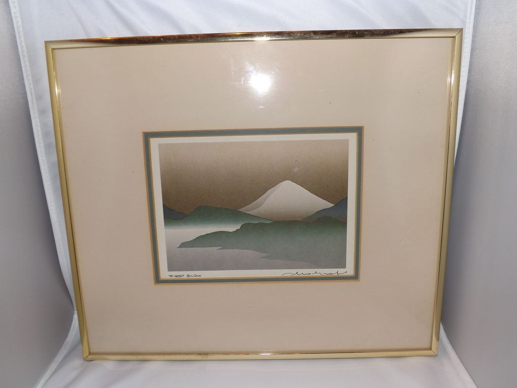 "Vintage 1985 Signed Lithograph ""First Snow"""