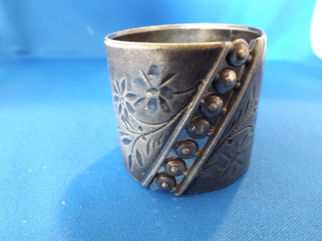 Antique Victorian Etched and Reticulated Napkin Ring