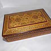 Syrian Marquetry Inlaid Box from the desk of Anwar Sadat