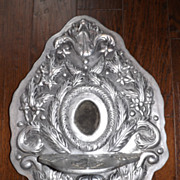 Heavy Pewter Religious Icon Alter or Wall Shelf