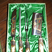 Vintage Walter Willms Antler Handle Carving Set