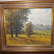 "Oil Painting ""Prospect Trail"" 1935 by W.S. Armstrong"