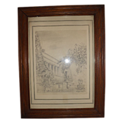 Original Pencil Drawing - The Huntington Library  - John Klein