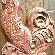 Vintage Plaster Rooster