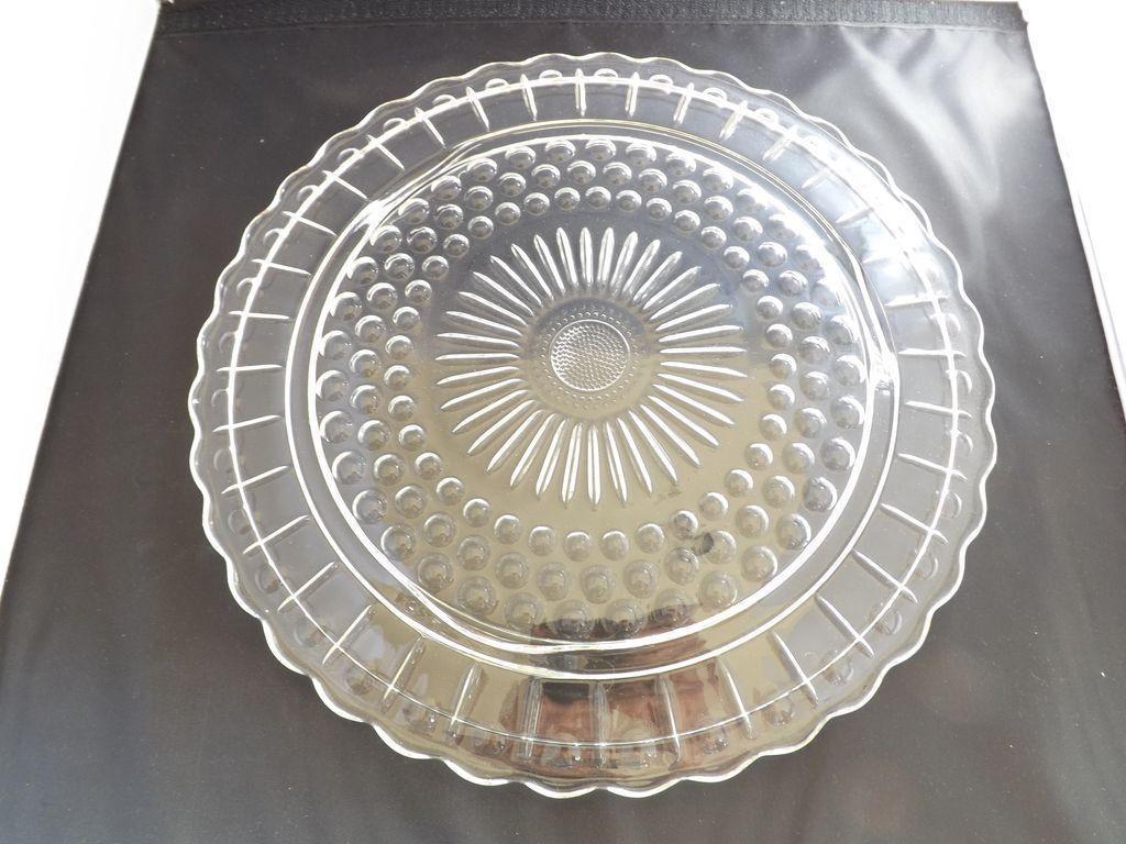 Pattern Glass Torte Plate