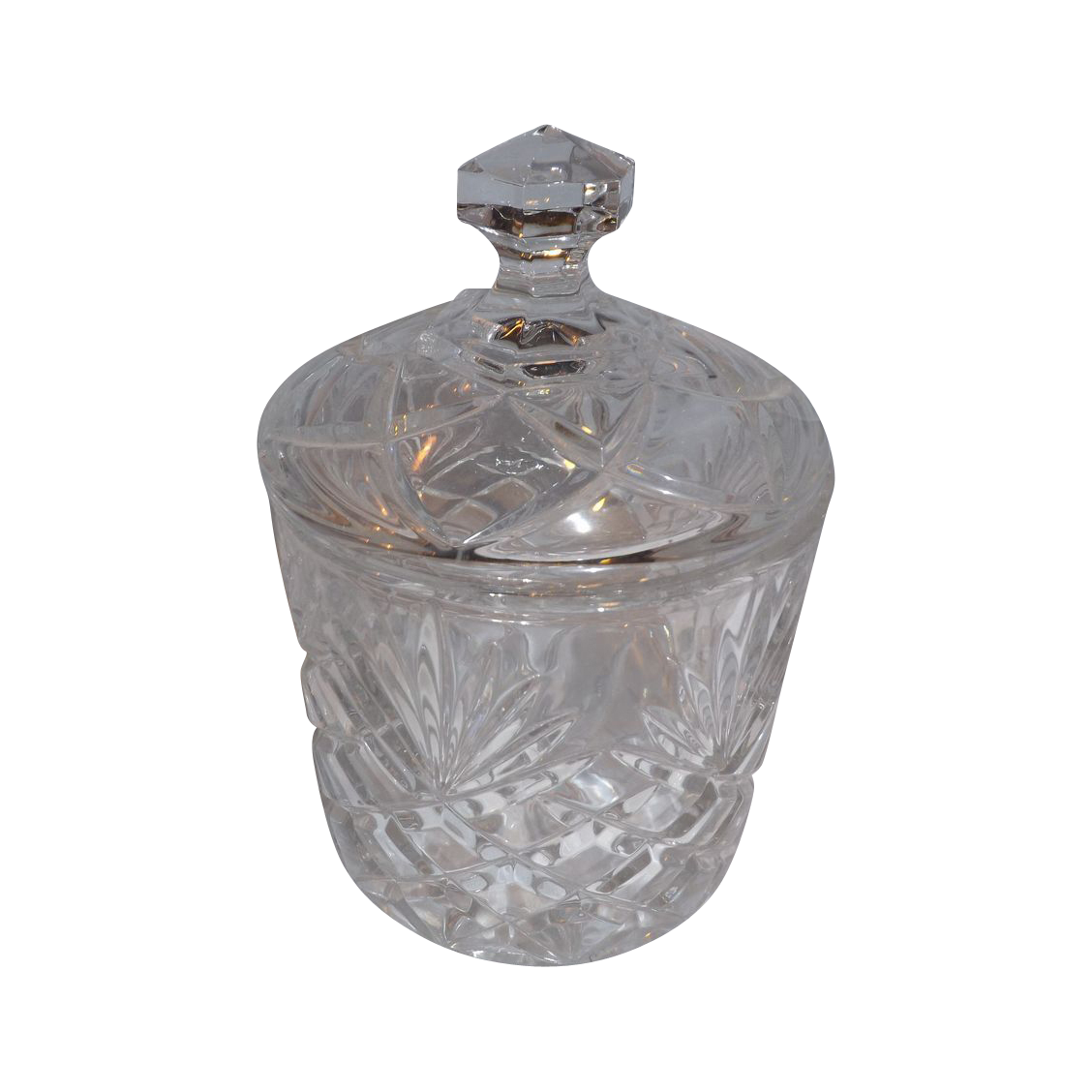 Covered Crystal Jar