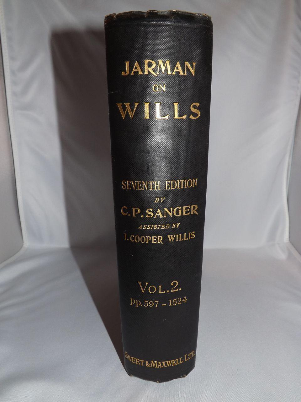 Vintage Law Book - Jarman on Wills Seventh Edition Vol. 2