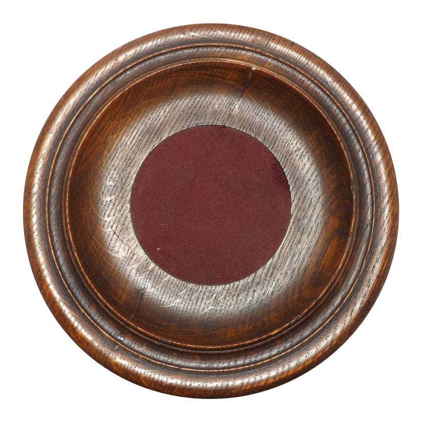 Antique Wood Church Collection Plate