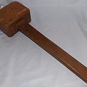 Large Antique Wood Mallet
