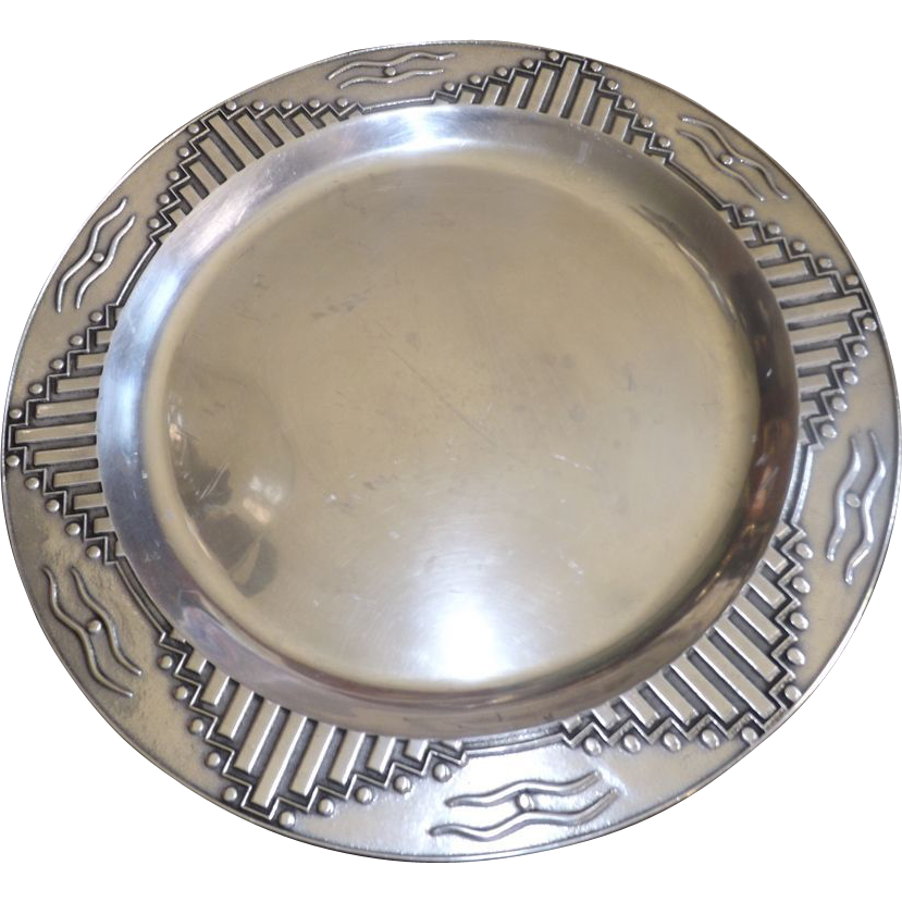 Large Wilton Pewter Platter / Tray - Zia Collection