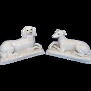 Vintage White Porcelain Dogs