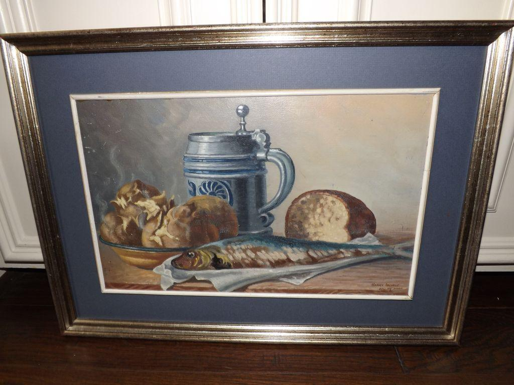 Vintage Harry Iredale Oil on Board Still Life