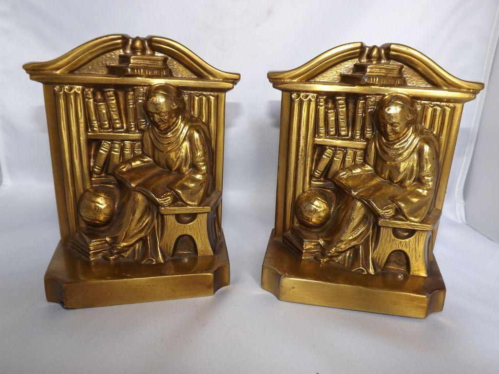 Vintage PM Craftsman Monk Bookends