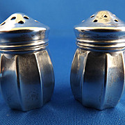 Perfect pair of mini Salt and Pepper Shakers - Sterling Silver