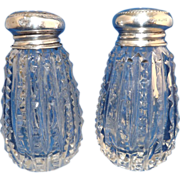 Set of Cut Crystal Salt & Pepper Shakers