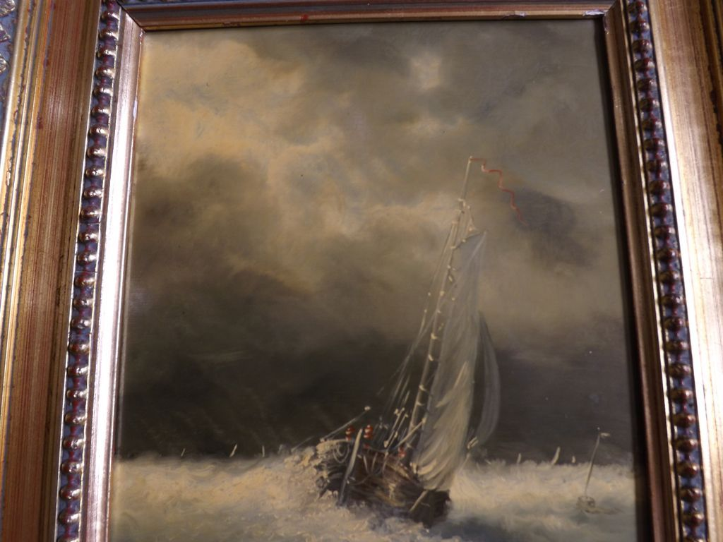 original oil painting by j redert sailboat in a storm sold on