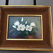 Vintage Oil Painting by Alli Harrigan - Magnolias