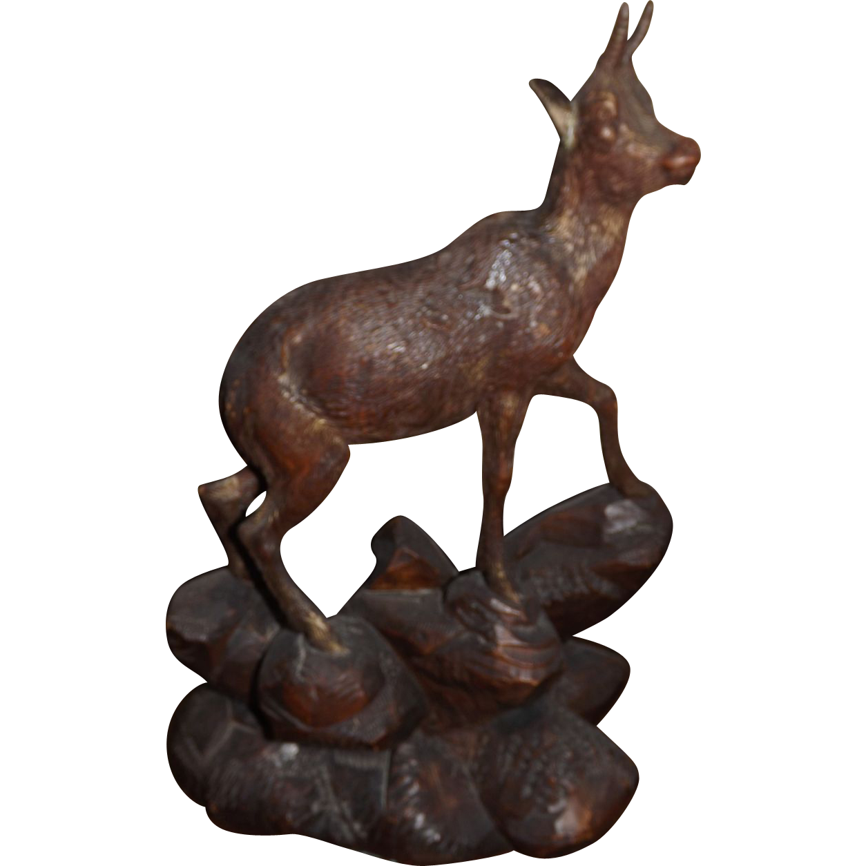 Black Forest Hand Carved Mountain Goat