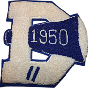 Retro 1950 Letterman Patch Letter D