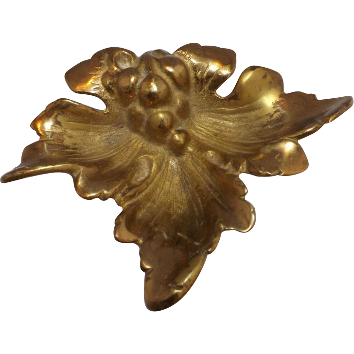 Antique Brass Nut Dish