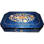 Romeo and Juliet Lacquered Inlaid Wood Marquetry Jewelry Box