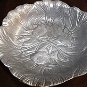 Vintage Cast Pewter Goldfish Coy Bowl