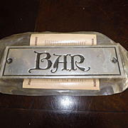 """Vintage New Old Stock Pewter Wilton Armetale """"BAR"""" Sign"""