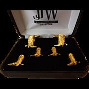 J.J. Weston Formal Set - Cufflinks and Studs- Gold Plates Cowboy Boots