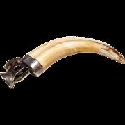 Antique Boar Tusk Cigar Cutter 1934 Sterling .925