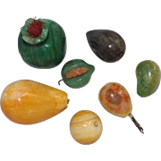 Collection of 7 Beautifully Colored Stone Vegetables