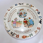 "Vintage German ""Nursery Rhyme"" Childrens Porcelain Bowl"