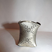 "Antique Etched Napkin Ring monogrammed ""Jeddie"""