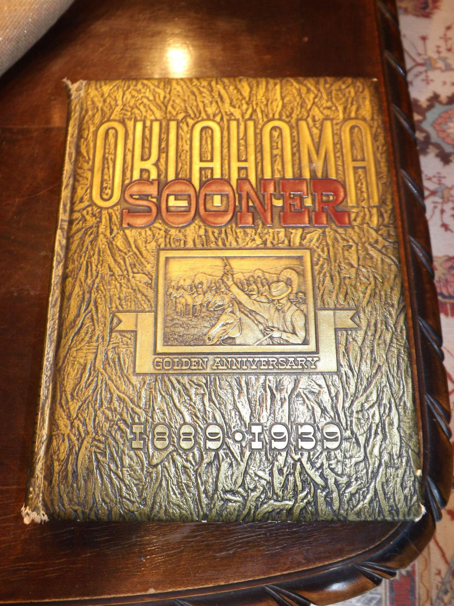 OU University Oklahoma Sooner Golden Anniversary Yearbook 1889 - 1939