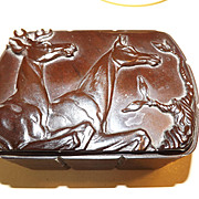 Vintage Hickok Bakelite Belt Box with Deer and Doe