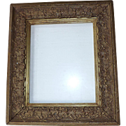 Antique Wood & Gesso Gilded 8 x 10 picture frame
