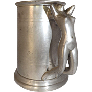 Vintage Sheffield England Pewter Tankard with Nude Handle