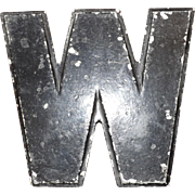 "Vintage Metal ""W"" sign by Wagner Sign Service"