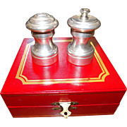 Vintage Pewter Cartier Salt Pepper set