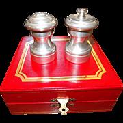 Vintage Pewter Cartier Salt Pepper set
