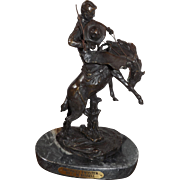 C.M. Russell Bronco Twister Western Bronze Statue