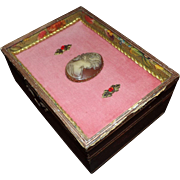 Vintage Florentine Jewelry Box with Cameo