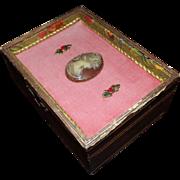Vintage Florentine Jewelry Box with Cameo