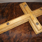 Vintage Heavy Wood Crucifix