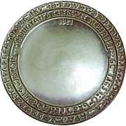 Frankoma Sequoyah's Cherokee Alphabet Plate