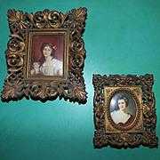 Vintage J.B. Grueze Cameo Creation Framed images
